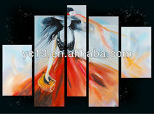 Beautiful abstract hand painted modern decoration African Women Oil Painting On Canvas