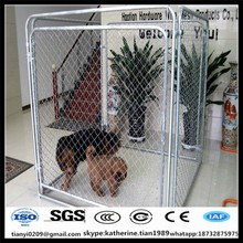 Dog Run Kennel Galvanized Chain-link Box with Locking Gate Latch