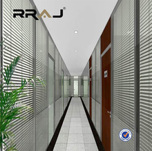 RRAJ 0.16mm 0.18mm, 0.21mm slats office aluminum blind for glass door