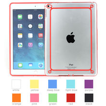 soft bumper case for ipad mini 1 2 3, transparent pc back cover for tablet ipad mini 1 2 3