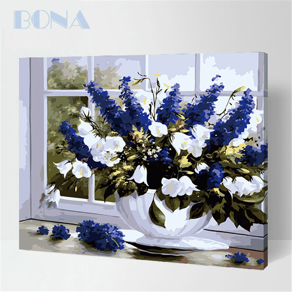 Bona Painting By Numbers Vintage Diy Craft Kit For Adults