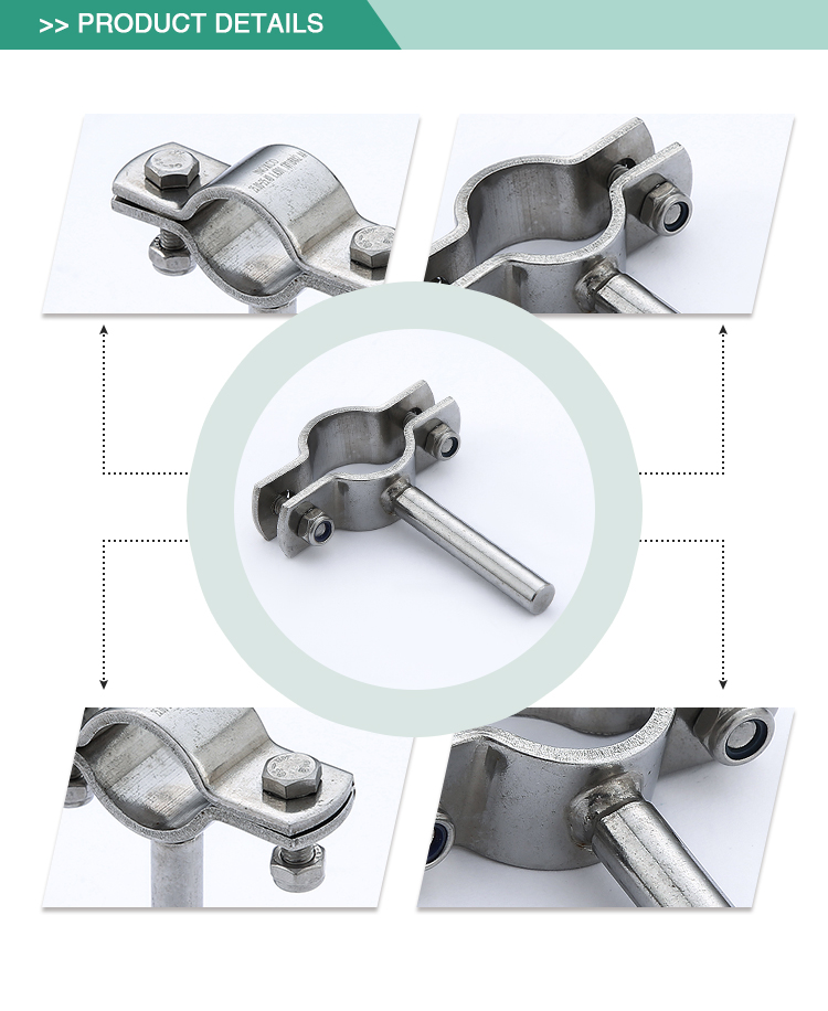 Cheap sell use long lasting hygienic clamp stainless steel pipe holder
