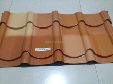insulating cheap galvanized color steel roof tile for prefab house