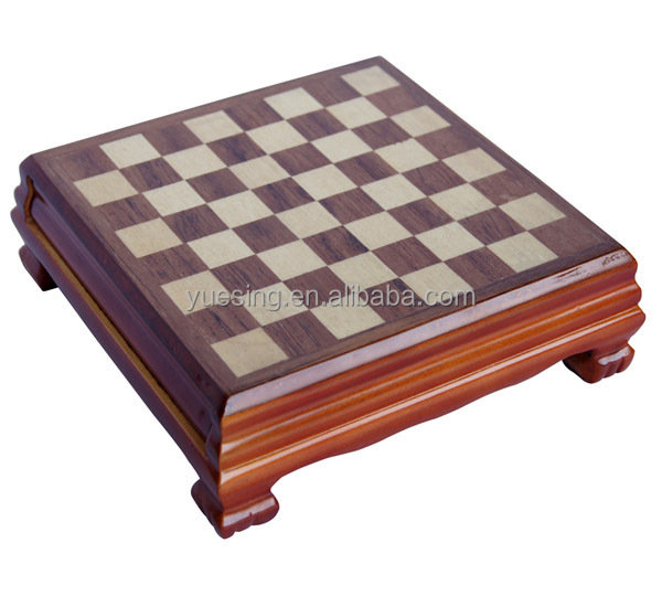 Travel Mini Chess Set Wooden Chess Pieces With Chess Table