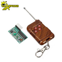 IC 2262/2272 four-way wireless remote control kit M4 non-lock receiver board with four key wireless remote AG049