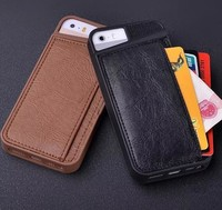 High Grade Business Style Men's Backside Wallet Case For Iphone 5S With Card Holder
