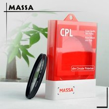 Massa photography equipment, slim high quality optical glass 95mm CPL camera lens filter