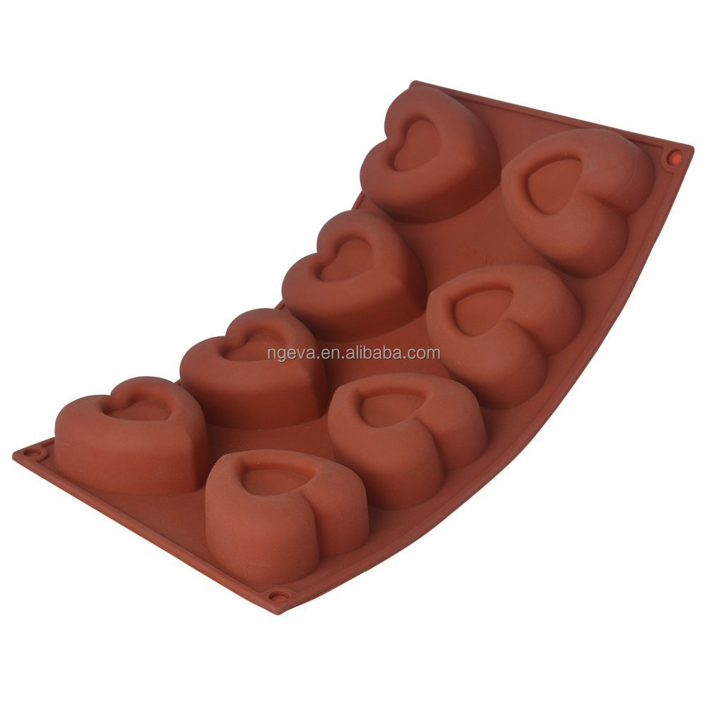 Heart Shape Head Silicone Human Cake Mould