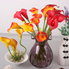 China wholesale real touch artificial flower calla lily with high quality for wedding and home decoration