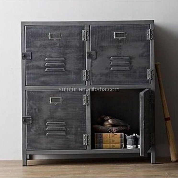Reclaimed Industrial Furniture Antique Cabinet With Doors