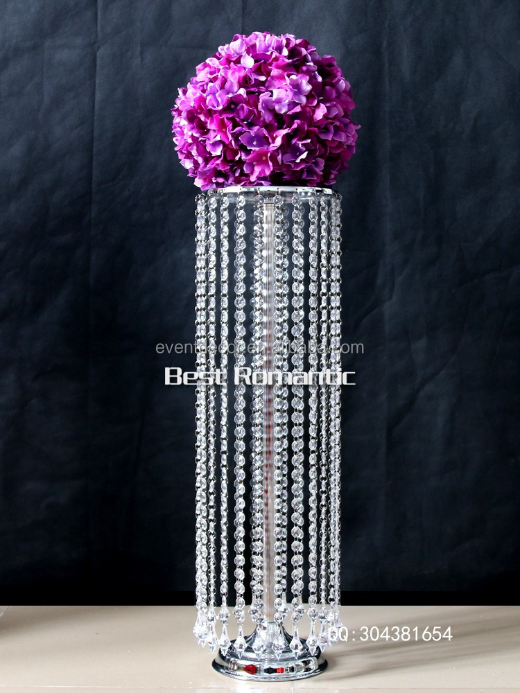 Wholesale crystal chandelier table centerpieces for event for Plastic chandeliers for parties