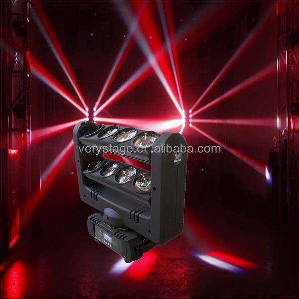 professinal stage light led spider 8x10w color rgbw beam moving head light