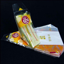 FDA Custom triangle shape triangle clear plastic sandwich packaging bag