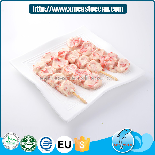 Wholesale cheap japanese food cooked squid and ginger frozen fish cake