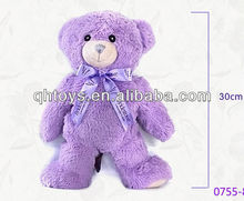 pure manual birthday gift lavender bear plush toy
