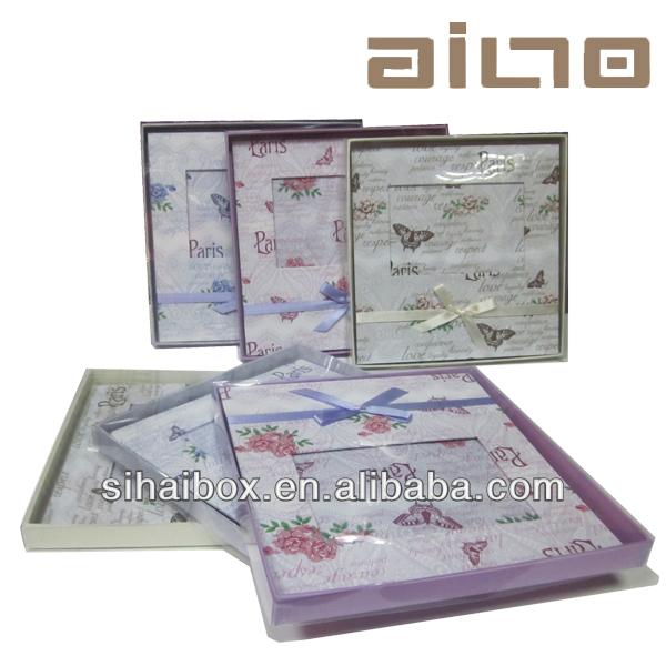 wholesale desktop decorative cardboard paper photo frame packaing box