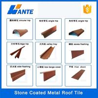 Trade assurance stone coated roof tile of ridge tiles,recyclability galvanized roofing sheet