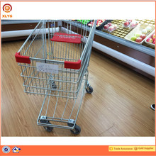 Stainless Steel 4 Wheels Airport Shopping Trolley For Duty Free Shop