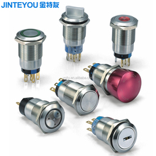 19mm emergency stop illuminated momentary push button switches
