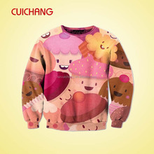 cheap wholesale custom cartoon sweatshirts no minimum&sublimation crewneck sweatshirt custom&