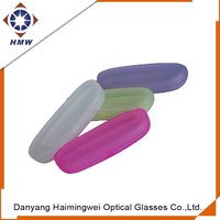 custom PP plastic spectacle case for reading frame, colorful cheap glass case
