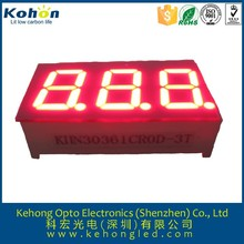 green color 0.36 inch led display: FND led 7segment display with 3 digits