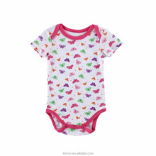 Newborn Clothes Baby Girls Bodysuit 100% Cotton Baby Rompers Fashion Butterfly Printed Infant Clothing