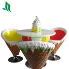 Fiberglass ice cream table and chair decoration