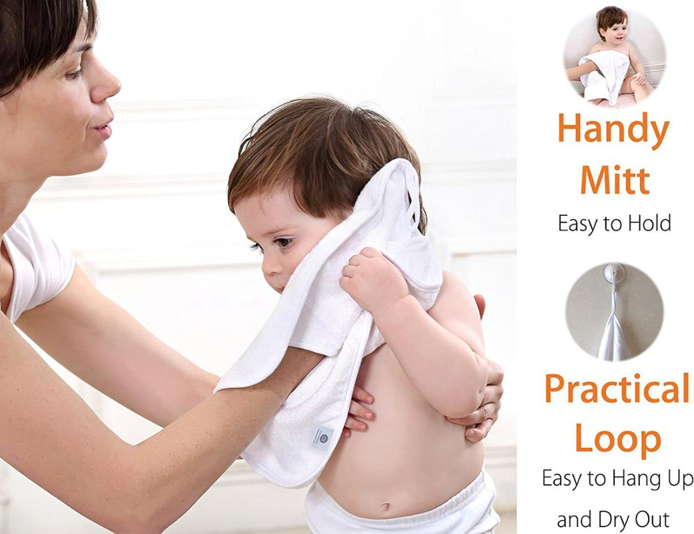 China Manufacturer baby plain hooded towel with high quality