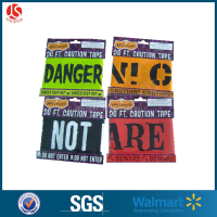 2015 New style scrolls designs to print plastic halloween warning tape