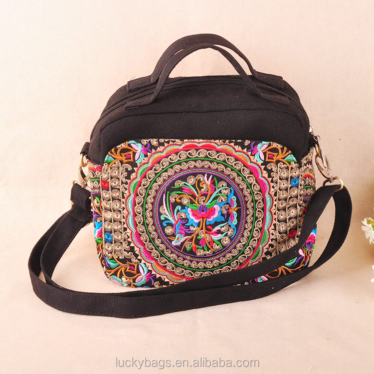 Hmong/ Boho thailand style ethnic embroidery messenger bag canvas woman hand bag