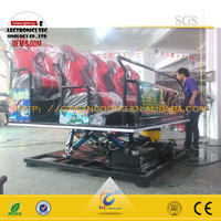 china supplier Hydraulic system 5d motion cinema, truck mobile 7d cinema pass CE certificate