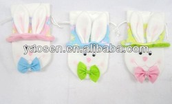 Easter bunny drawstring bag with bow decoration