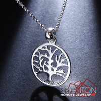 Life Tree Pendant Real Gold Plated Jewellery 5-1231-3380