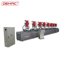 Aluminum curtain wall profile multi head drill machine