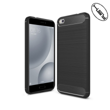 HUYSHE Mobile Phone case for xiaomi 5c waterproof brushed carbon fiber back cover tpu case