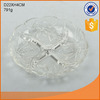 flower pattern embossed glass candy /fruit/snacks dispensing plate tableware