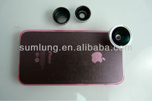 New arrival high quality colorful cases for iPhone4/4S with 180 fisheye lens