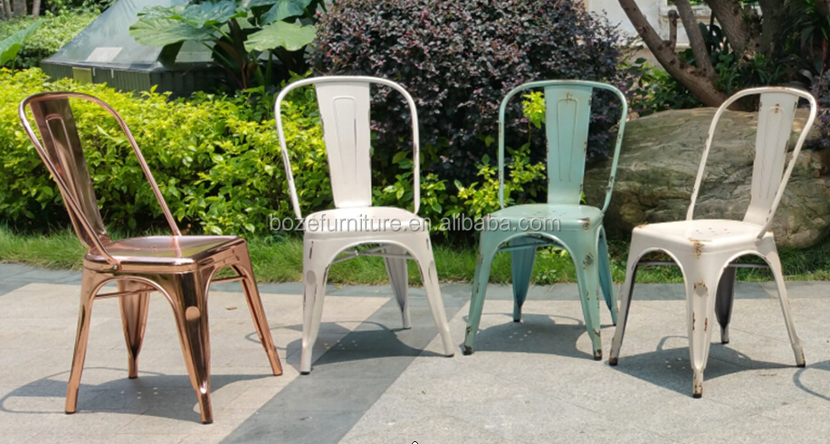 restaurant dining chair, steel vintage chair, powder coating steel cheap chair