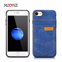 XOOMZ PU Leather Cell Phone Cover Case with Pocket for iPhone 7 7 Plus, PU Leather Case for iPhone 7 7 Plus