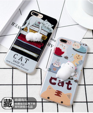 Wholesale High Quality 3D Stree Squishy Cute Soft Case Silicone cartoon Squishy phone case for Samsung Galaxy S8