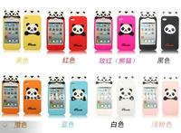 Phone accessories phone case Embossing Panda Silicone case for iphone 4 4s