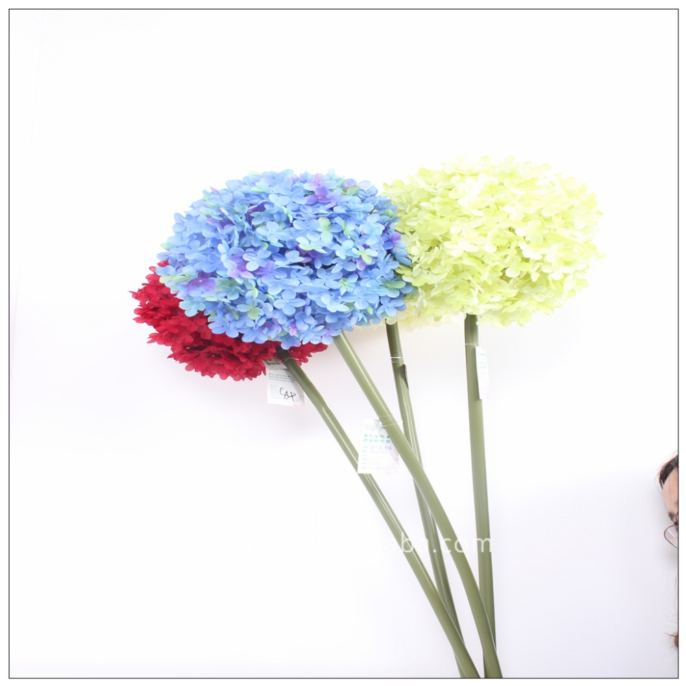 Artificial Big Round Hydrangea Fabric Floral Artificial Flowers