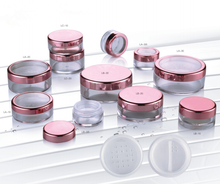 20mL EMPTY PLASTIC JARS POTS with SIFTER & BLACK SCREW LIDS For Cosmetics/Powder/Mineral Make Up/Blusher/Foundation