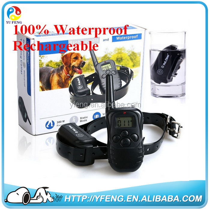 Remote Dog Training Collar Rechargeable And Waterproof Vibration Shock Electronic Electric 300M 100Level Anti Bark Control HOT