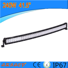 Factory direct curved 41.5inch 240w led light bar,led truck light bar with waterproof IP67
