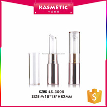 New design rotary liquid lipstick container rose gold lipstick tubes clear cap