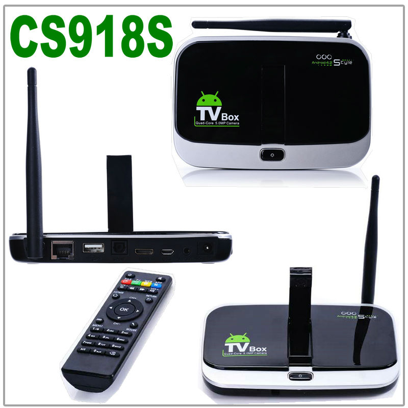 Cs918s Camera Microphone Allwinner A31s Quad Core 2g/16g Xbmc Bluetooth Hdmi 1080p Media Player Android 4.2.2 Smart Tv Box