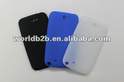 Smooth Silicone Skin Case cover for Samsung Galaxy note 2 N7100