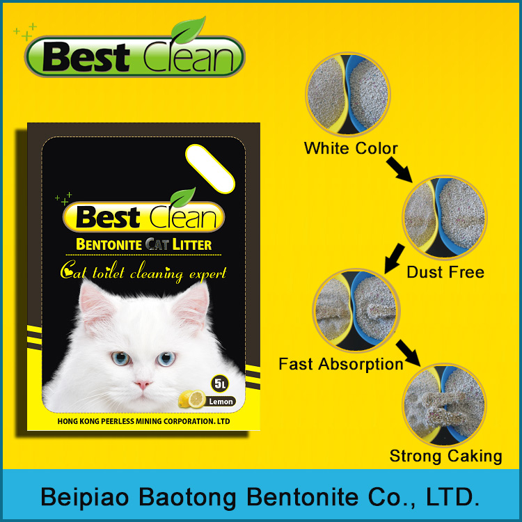 best clean Strong Caking bentonite Kitty litter